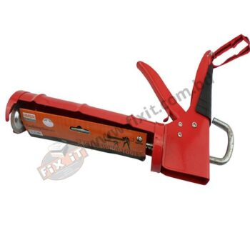 12 Inch Red Metal Caulking Gun HMBR Brand for Silicone Sealent Ejection