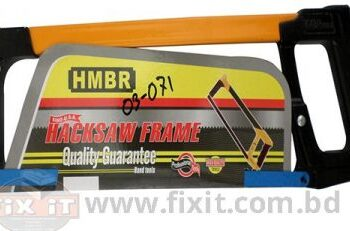 12 Inch Red Handle & Steel Body Hack Saw Frame with Blade HMBR Brand
