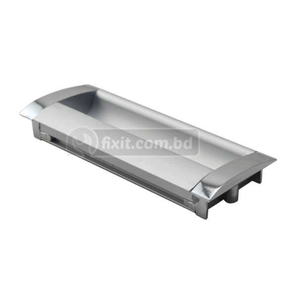 4 Inch Aluminum Silver Color Furniture Hollow Cabinet Handle