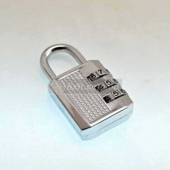 3 Digit Silver Color Resettable Combination Pad Lock