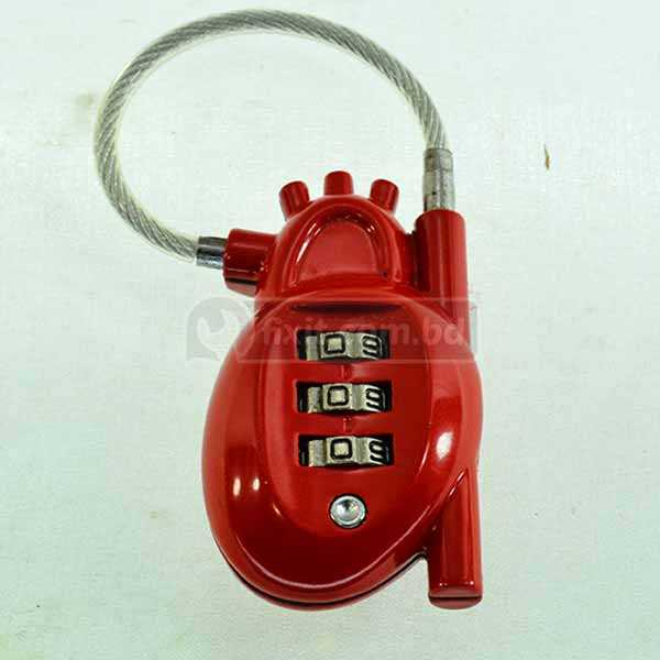 3 Digit Red Color Combination Padlock Lock Changhao Brand