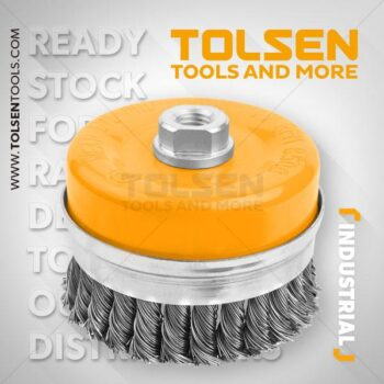 100mm Cup Twist Wire Brush With Nut(Heavy Duty) Tolsen Brand 77515