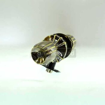 Antique Brass with Gold Lining Color Stainless Steel Round Door Lock
