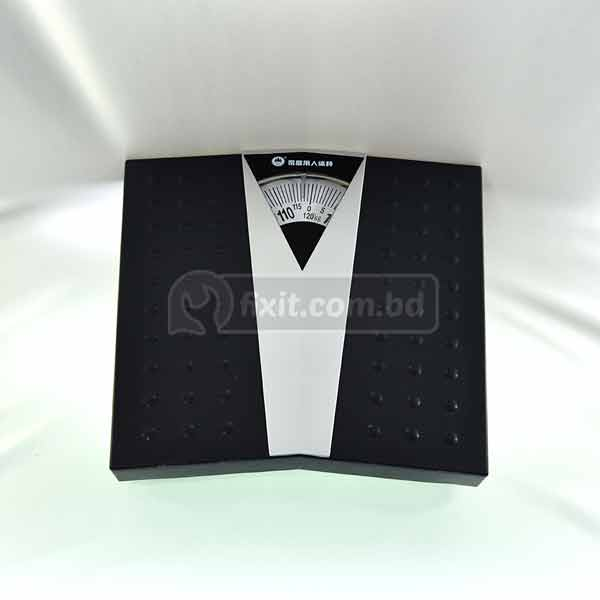 Black and Silver Analog Bathroom Weight Scale
