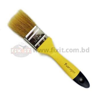 1.5 Inch Brown Color Synthetic/Chinese bristle Paint Brush Karigor Brand