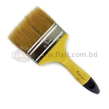 4 Inch Brown Color Synthetic/Chinese bristle Paint Brush Karigor Brand