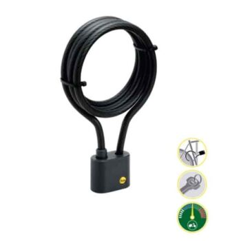 Keyed Cable Bicycle Lock Yale Brand YCL1101601 B
