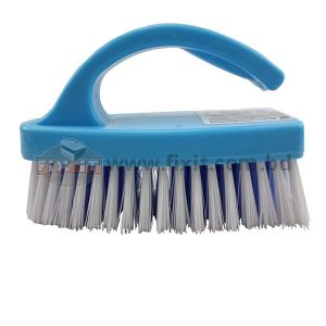 6 Inch Multi-Color Plastic Floor Brush with Handle