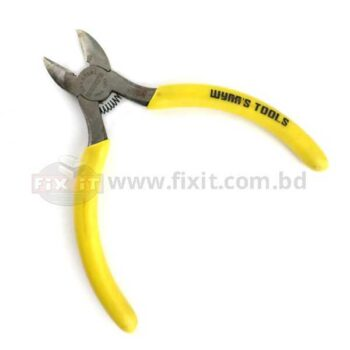 Mini Cutting Plier with Yellow Color Rubber Handle WynnÂ's Brand