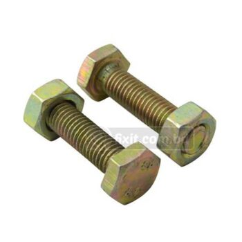 10mm 2 Pcs Packet Iron Nut and Bolt