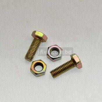 6mm X 15mm 2 Pcs Packet Iron Nut and Bolt