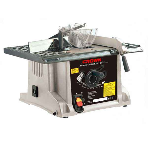 255mm 1800W 5000RPM Table Saw Crown Brand CT15209