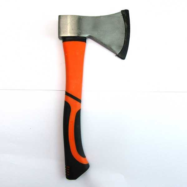 Stainless Steel Color 6 Inch Axe with 12 Inch Fiberglass Handle Hmbr Brand