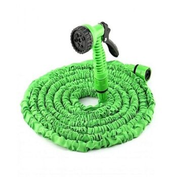 100FT Retractable Expandable Flexible Magic Hose Pipe For Water Watering Garden Hose With Valve+ Spray