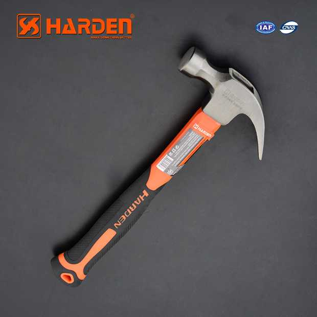500gm/ 16 OZ Carbon Steel Claw Hammer With Fiber Handle Harden Brand 590215