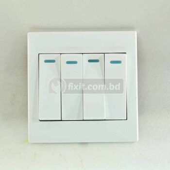 10 Ampere 250 Volts  Four Gang Switch One Way