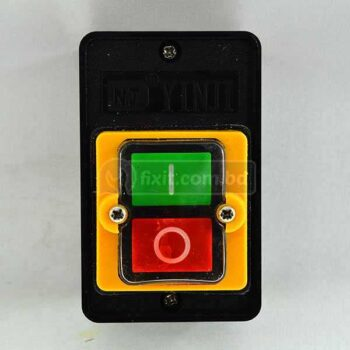 Green & Red On-Off Switch for Motors Grey Body