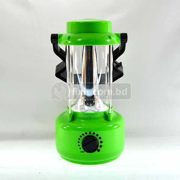 8 Inch Height LED Rechargeable Bright Lamp Green Color with Black Color Handle LANTHUM Brand great for Outdoor Adventures