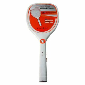 24 Inch White Color Rechargeable Electrical Mosquito Racket with Torch Light HMBR Brand