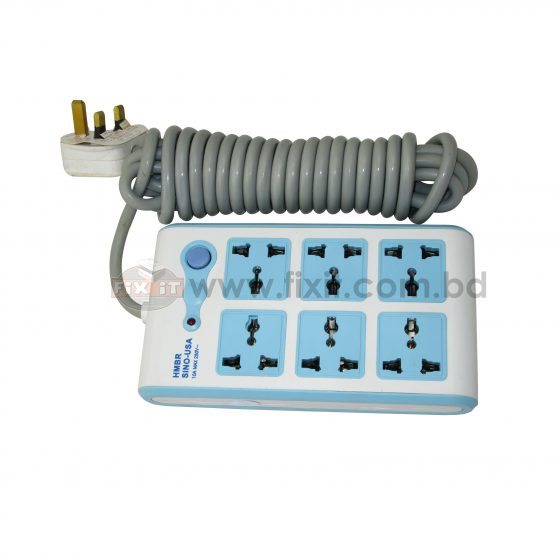 220 Volts Power Strip (6 Socket) with 5 Meter Cable HMBR Brand