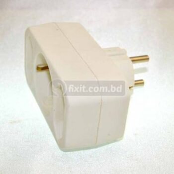 16 Ampere White Color 3 Inlet 2 Round Pin Transfer Plug