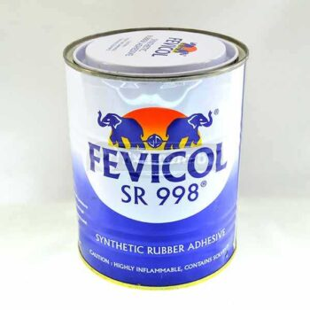 1 Liter Fevicol Synthetic Rubber Adhesive SR998 For Leather  Rexine  Heat & Water Resistant