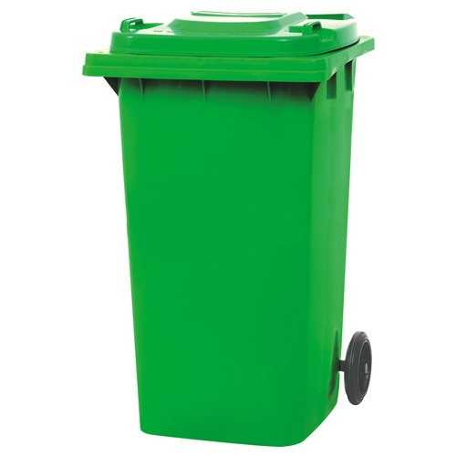 240 Liter Dustbin Orange and Green Color High Quality Plastic Recycling bin for Industrial Use