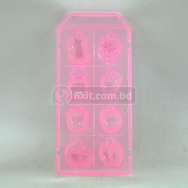 Pink Color Plastic Ice Making Box Fruit Shaped Ice Model JX-509