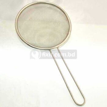 5.5 Inch Stainless Steel Frying Basket Net with Black Lining - For French Fries