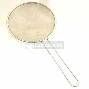 10 Inch Stainless Steel Strainer Frying Basket Net with Silver Lining - For French Fries