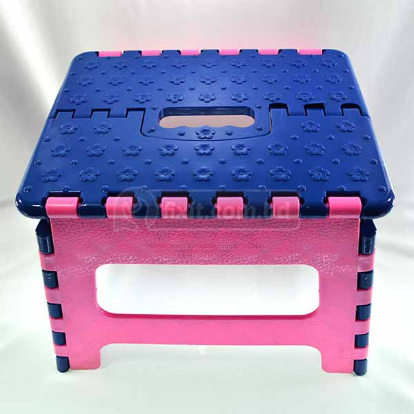 Heavy Duty Small Pink and Blue Plastic Foldable Tool/Chair (Baby Chair)