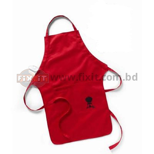 Red Color Thick Cotton Traditional Kitchen Apron