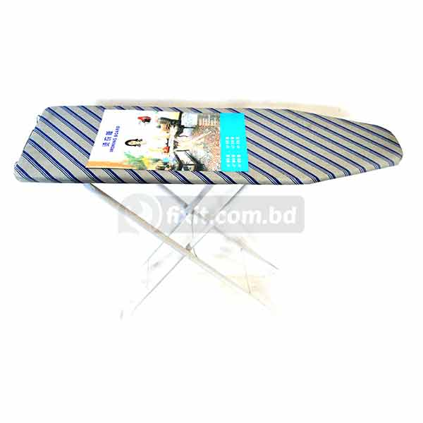 Home T-Leg Adjustable Height 1.5 ft. x 3 ft. Striped Design Cloth Ironing Board
