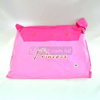 Disney Princess Pink Raincoat with Backpack for Children
