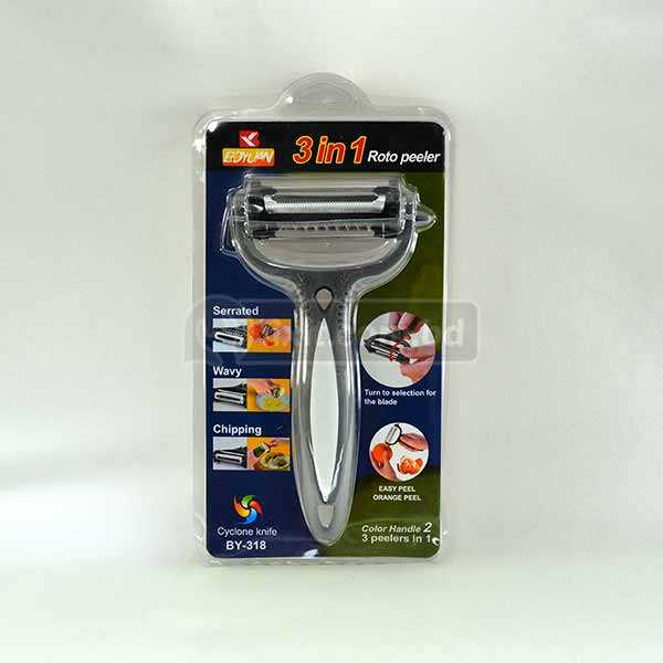 Ultra Sharp 3 Peelers in 1 for fruits & Vegetable Serrated  Wavy and Chipping design Roto Peeler