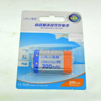 1 Pcs Packet 300mAh 9 Volts Rechargeable Battery Lalu Brand