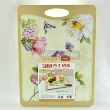 30cm x 40cm x 1.7cm Wooden & Plastic Chopping Board with Floral Design