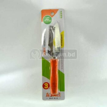 10 Inch Stainless Steel Peeler with Wooden Long Handle and Knife Edge