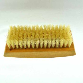 Wooden Hand Brush with Yellow Color Plastic Bristle