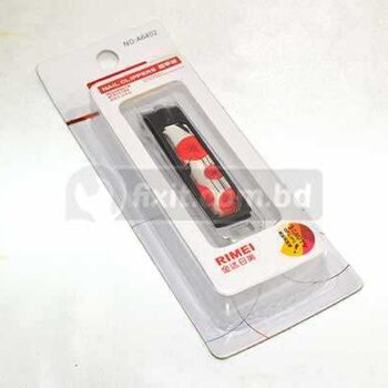 2 Inch Black and Red Color Stainless Steel Fancy Nail Cutter Rimei Brand