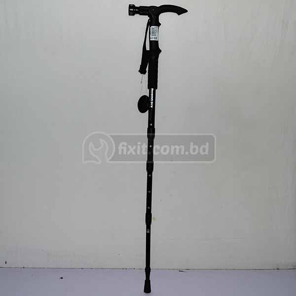 3 ft. Black Color Walking Stick With Torch Light