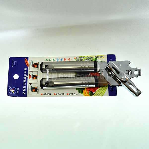 Stainless Steel Heavy Duty Can Opener with Dual Bottle Opener
