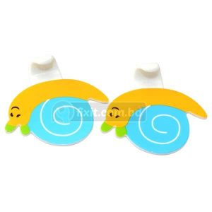 2 Pcs Set Yellow Blue Snail Design Adhesive Picture Hook (Sticks to Wall)