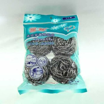 4 Pcs Packet Steel Wool Scrubber Set for Dish & Plate Washing VIP SUN Brand