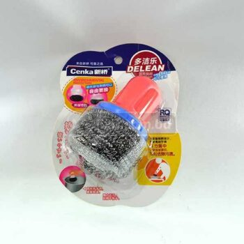 Steel Wool With Small Plastic Handle for better grip & faster clean