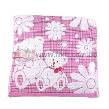 Pink Flower & Bear Check Design Towel for Kitchen  Drying plates & Wiping Hands
