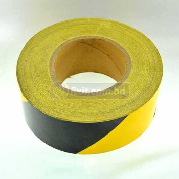 1 Inch x 132 ft. Fluorescent  Yellow & Black Industrial Vinyl Tape for Floor Markings Bicycle Safety Decoration & More (1 feet 50 tk)