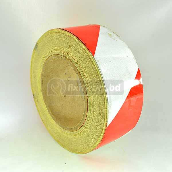 2 Inch x 132 ft. Fluorescent White & Red Industrial Vinyl Tape for Floor Markings Bicycle Safety  Decoration & More