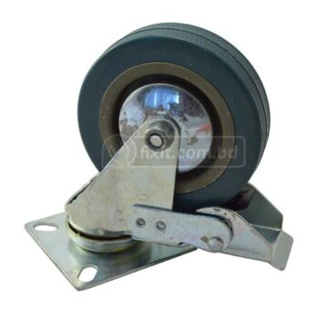 4 Inch Plastic Metal Caster Wheel with Lock
