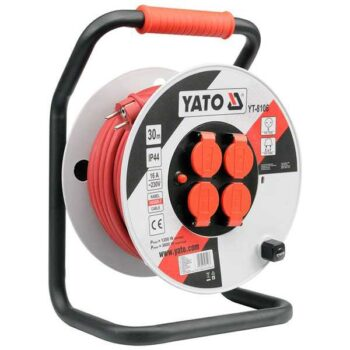 50 Meter Reel 16A 230V 4 Sockets Heavy Duty Cable Extension Reel Yato Brand YT-8108